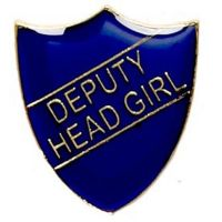 ShieldBadge Deputy Head Girl Blue</br>SB021B